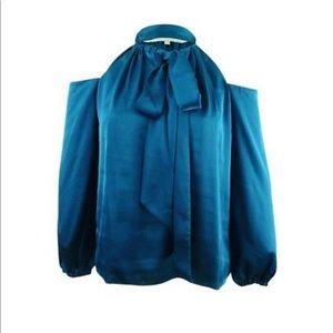 Rachel Roy Womens Tie-Front Knit Blouse, Blue